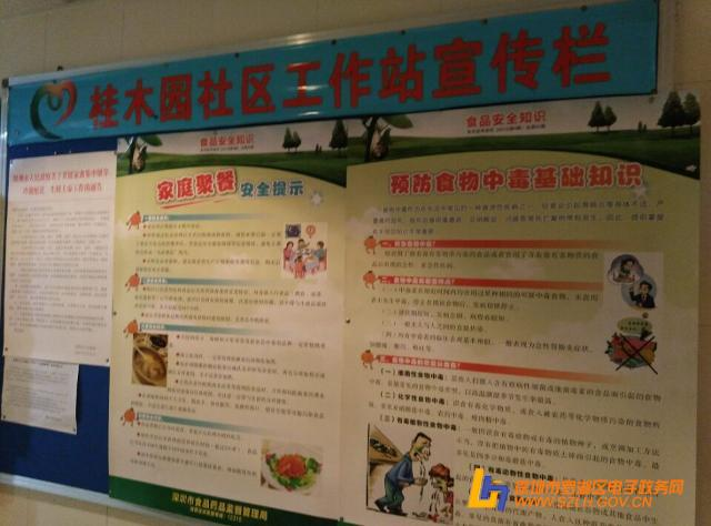 桂木园社区张贴食品安全知识海报